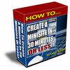 Thumbnail How to create a minisite in 30 minutes/MRR