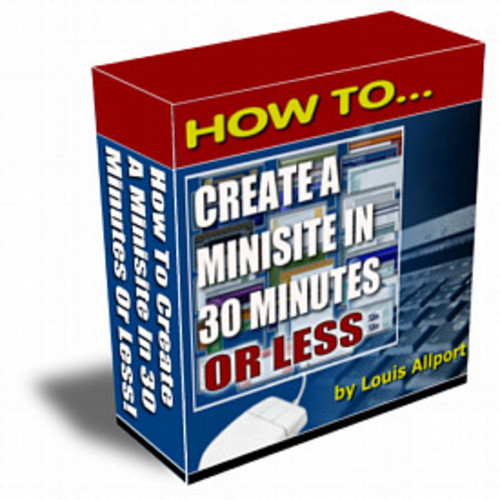 Product picture How to create a minisite in 30 minutes/MRR
