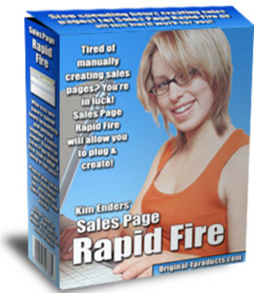 Product picture NEWSales Page Rapid Fire - Master Resell Rights