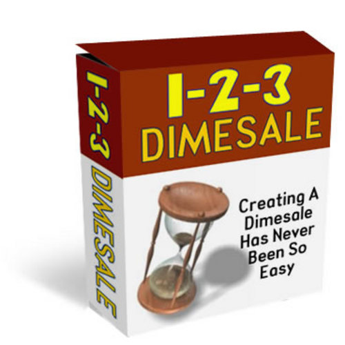 Product picture NEW 1-2-3 Dimesale Creating A Dimesale Has Never Been Easy