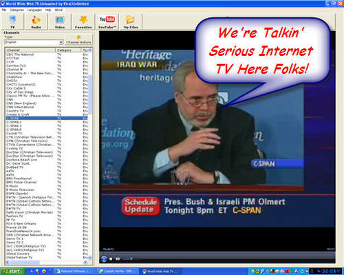 Product picture Instant Tv On Your Pc Or Laptop - World Wide Web Tv/mrr
