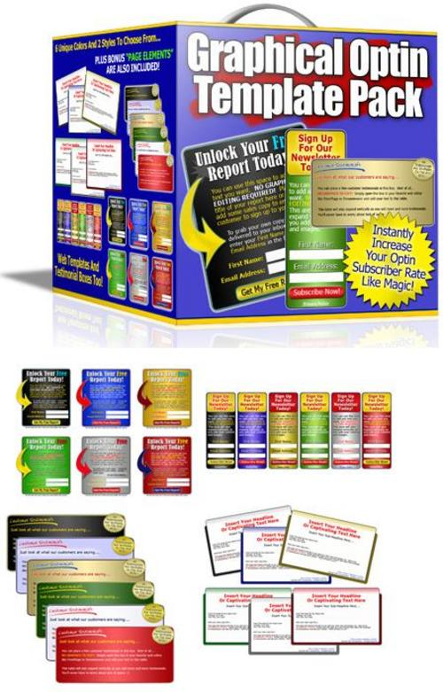 Product picture Graphics Optin Template Pack Product (with Mrr)