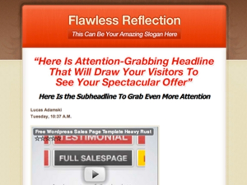 Product picture Flawless  Reflection WP Minisite PLR