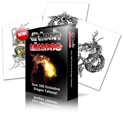 Product picture 300 Dragon tattoo Designs Ebook Mrr